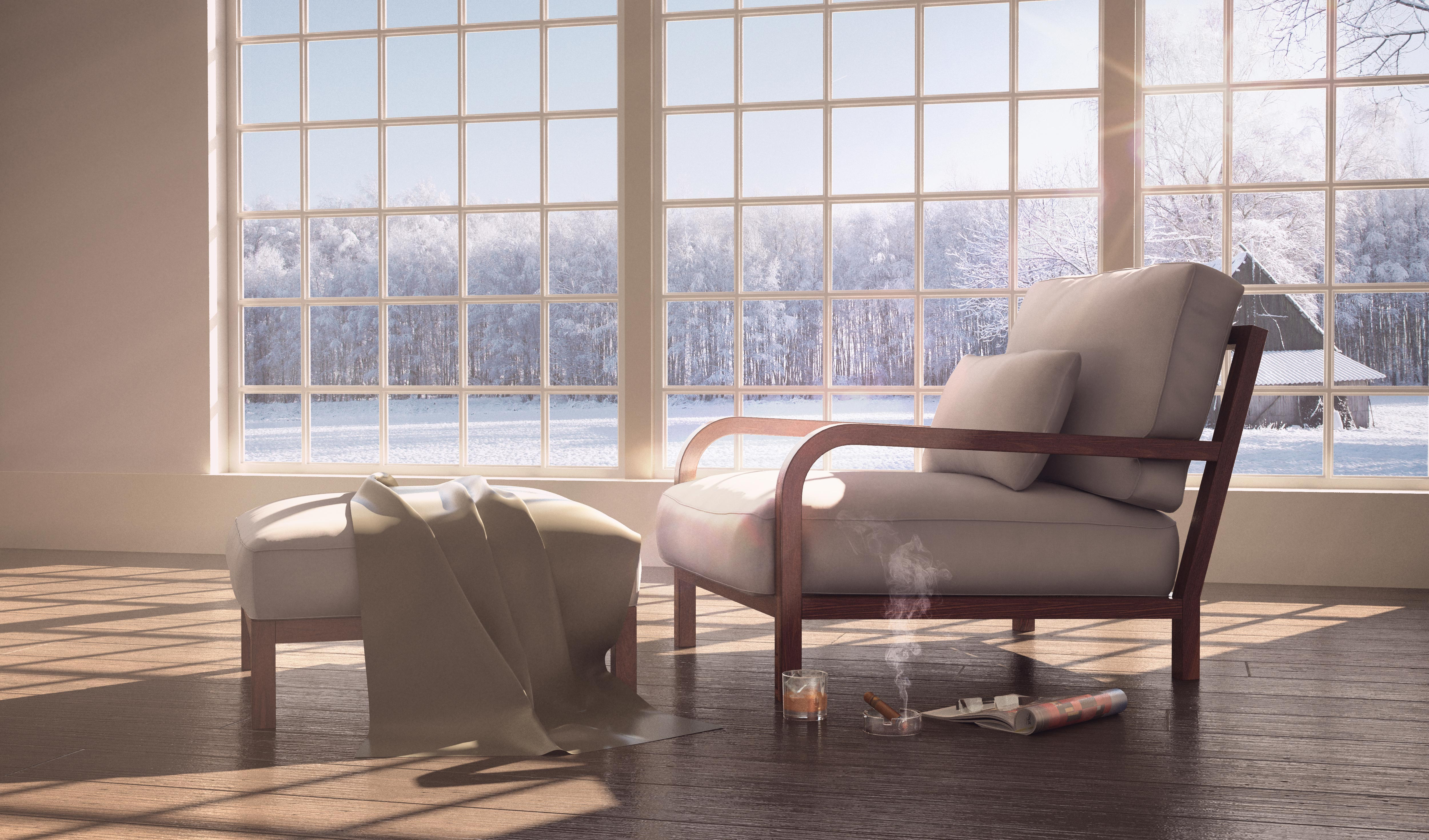 3d Rendering of a Chair