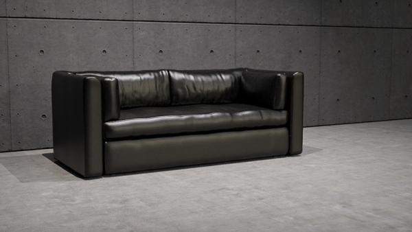 3D rendering sofa isolated