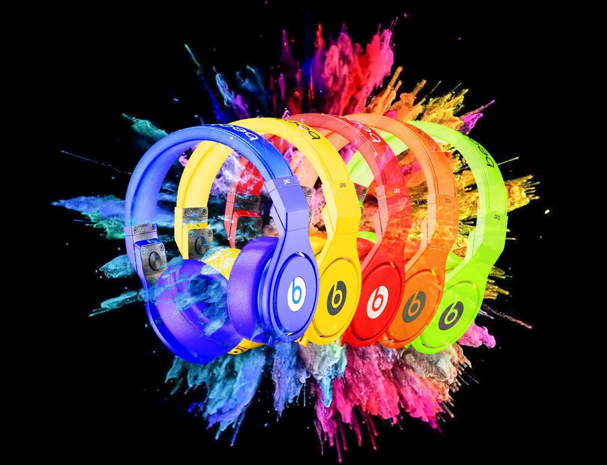 Dre Beats Colour Explosion Creative Marketing Image