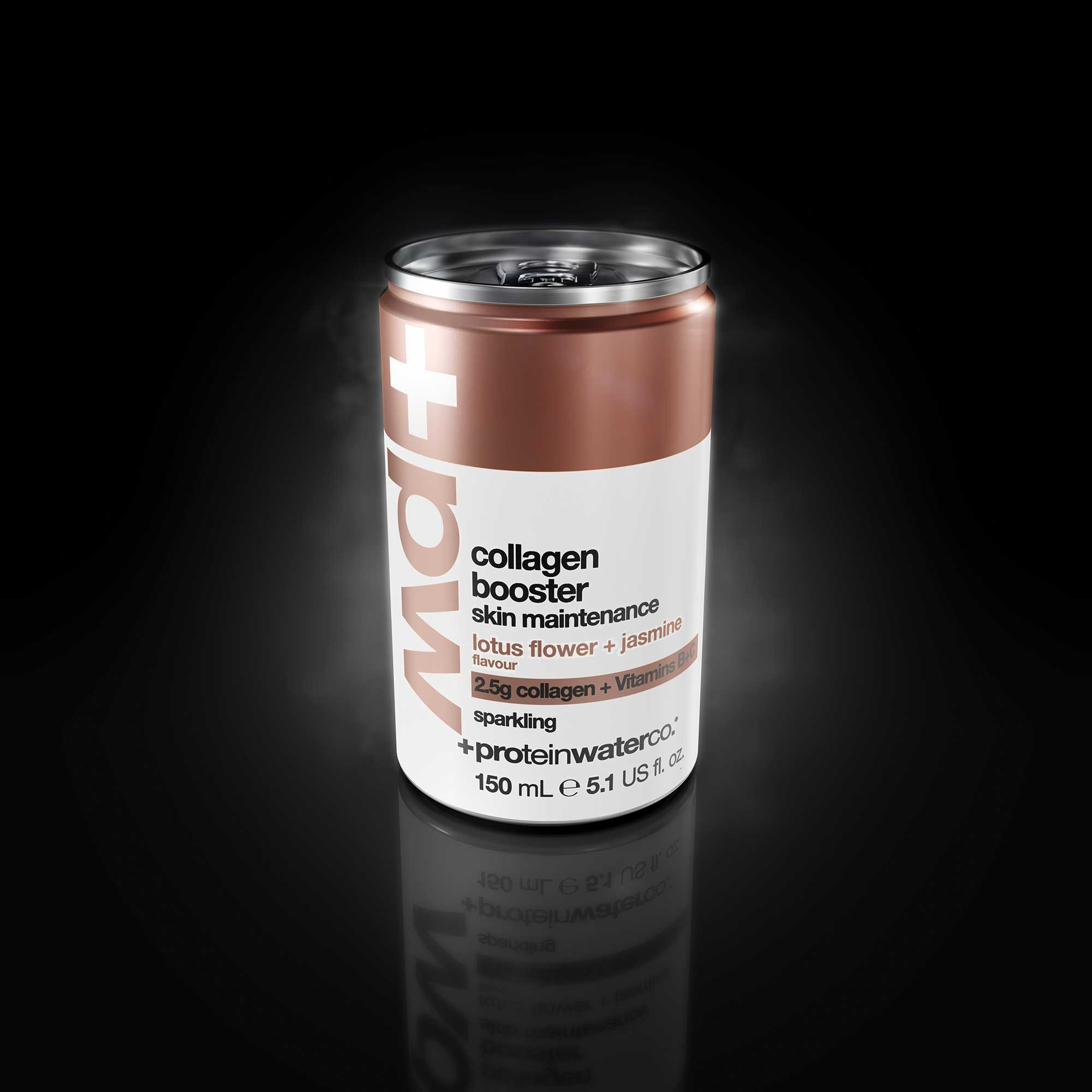 Product Render Collagen Booster Drink Black Background
