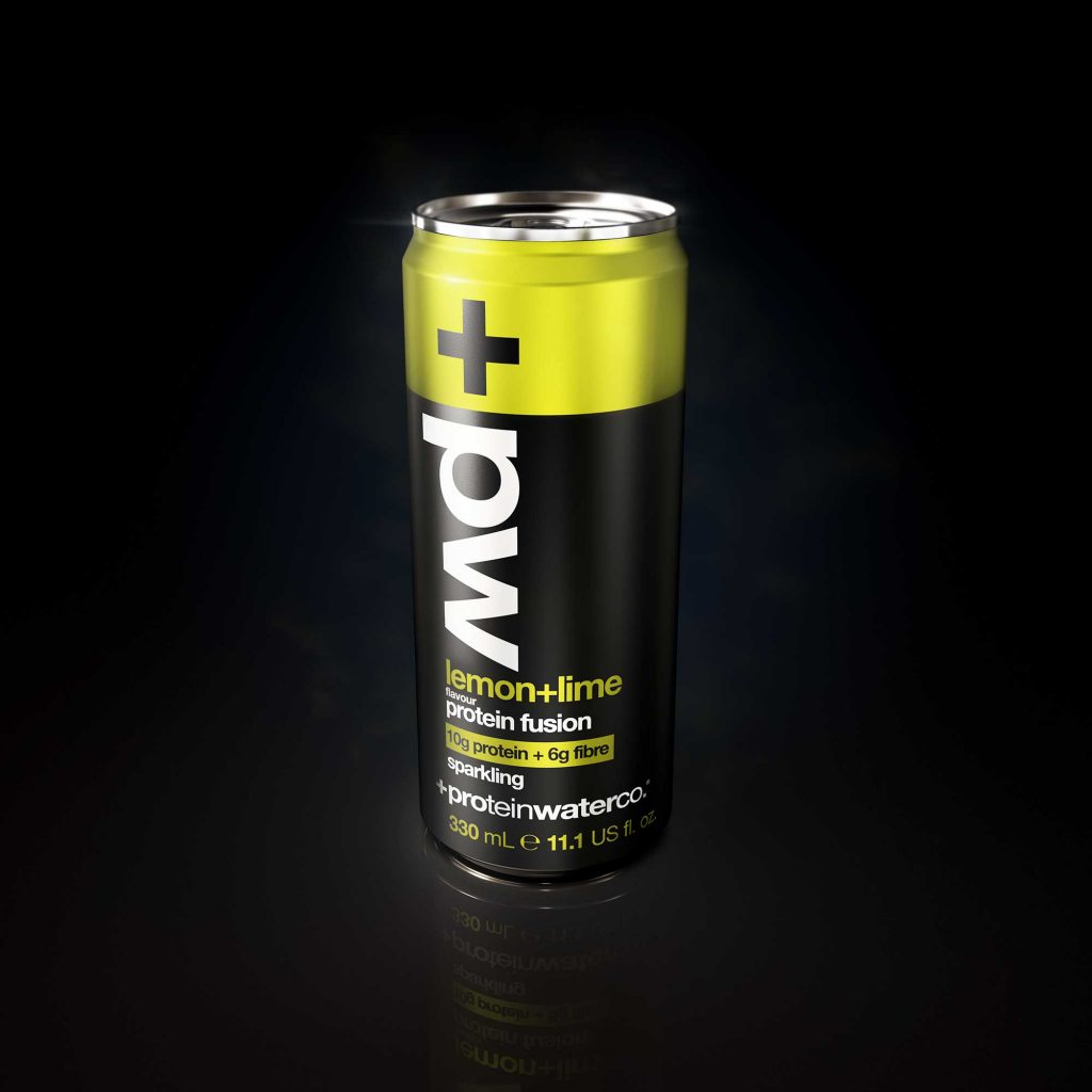 Product Render Lemon Lime Drink Black Background