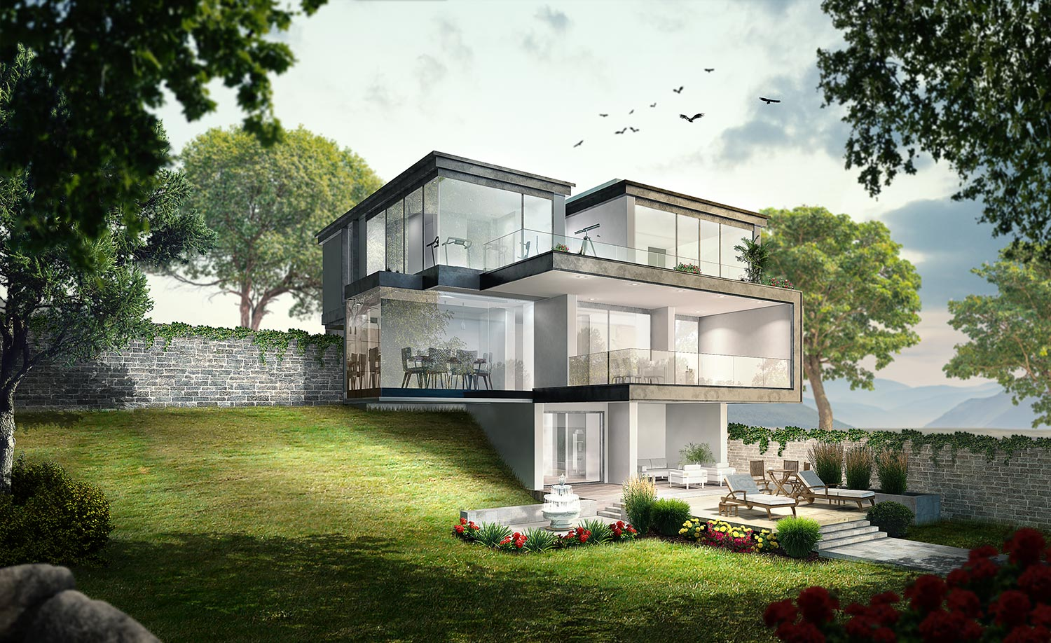 Architectural Visualization Villa