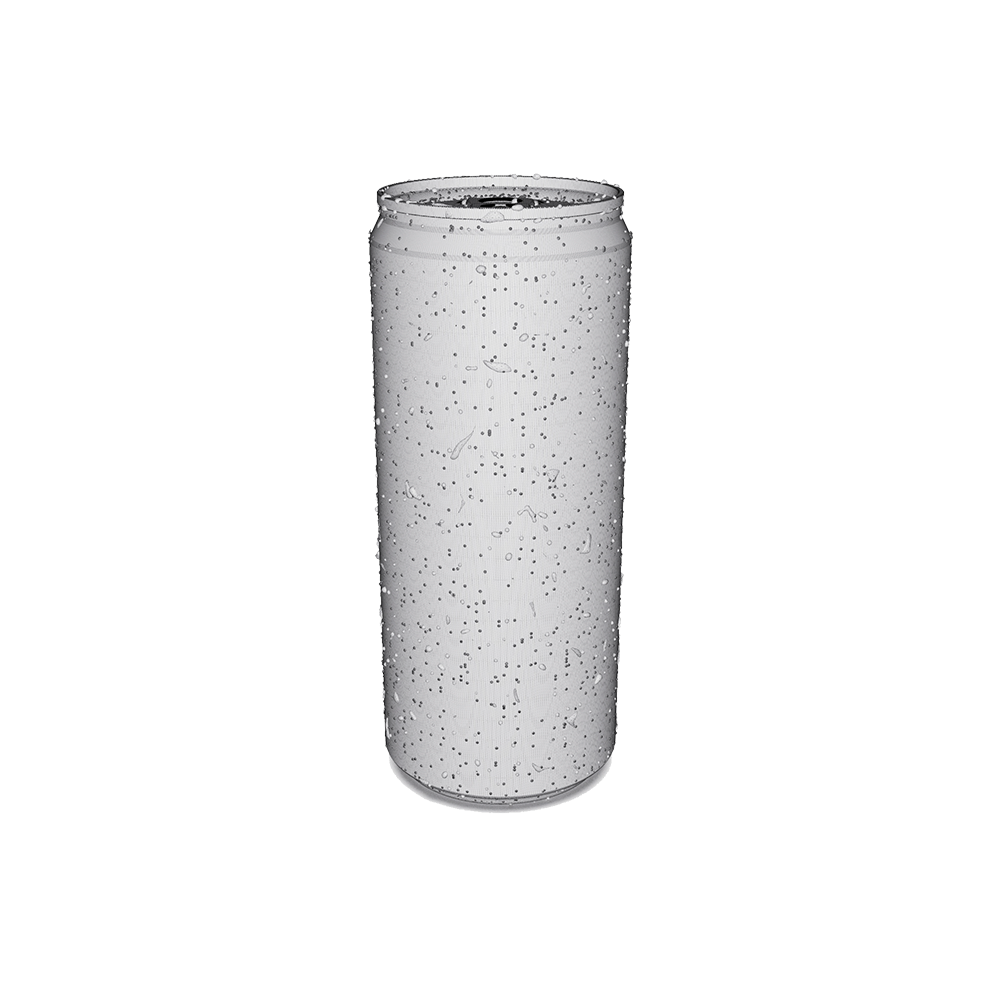 Drinks Can 3D Rendering Wire Frame