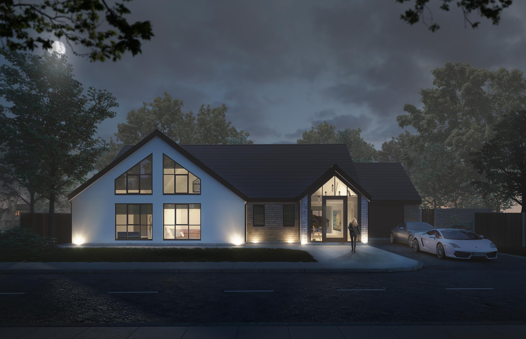 Architectural Visualization Night Render