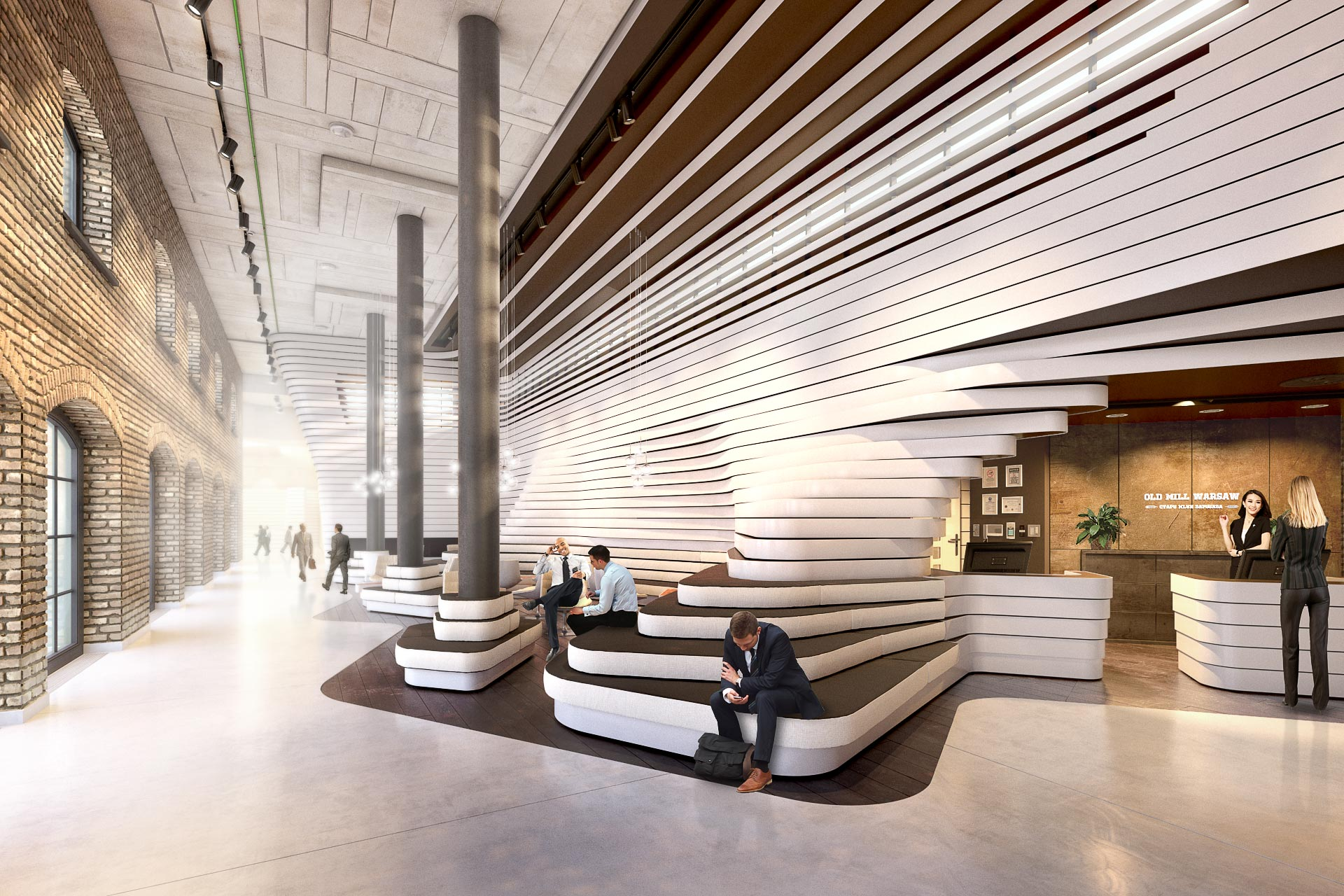 Commercial Lobby 3D Render