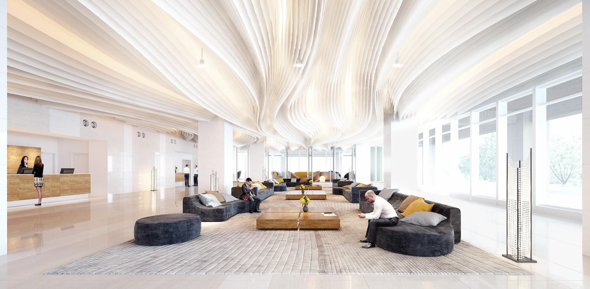 Hotel Lobby Interior Render