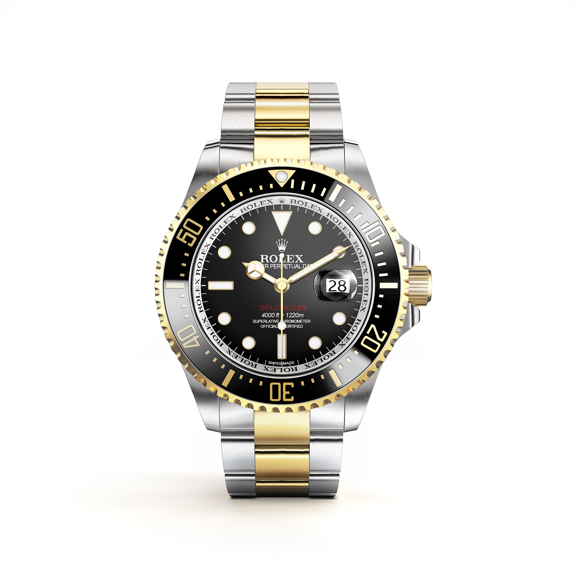 Jewellery Rendering Rolex Gold