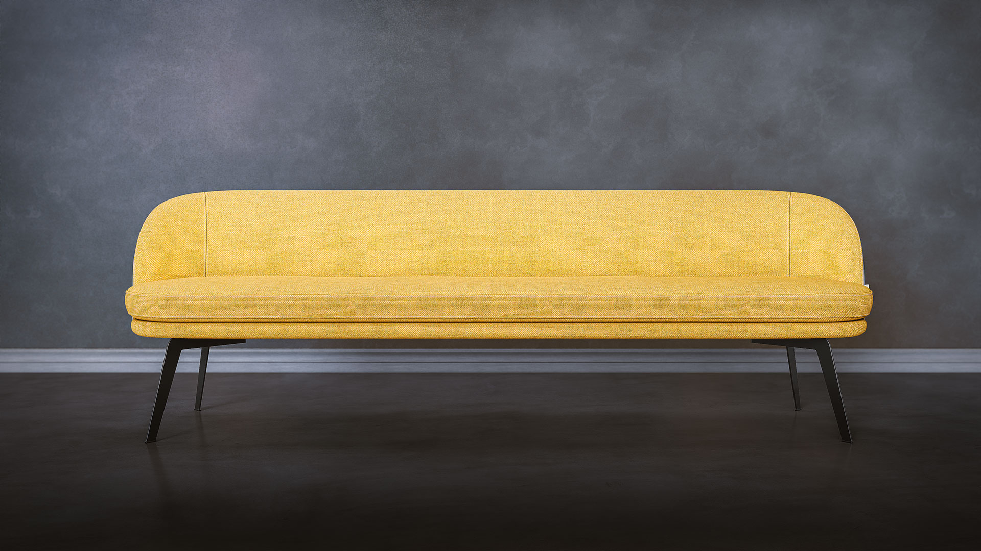 Yellow Bench Front View Render