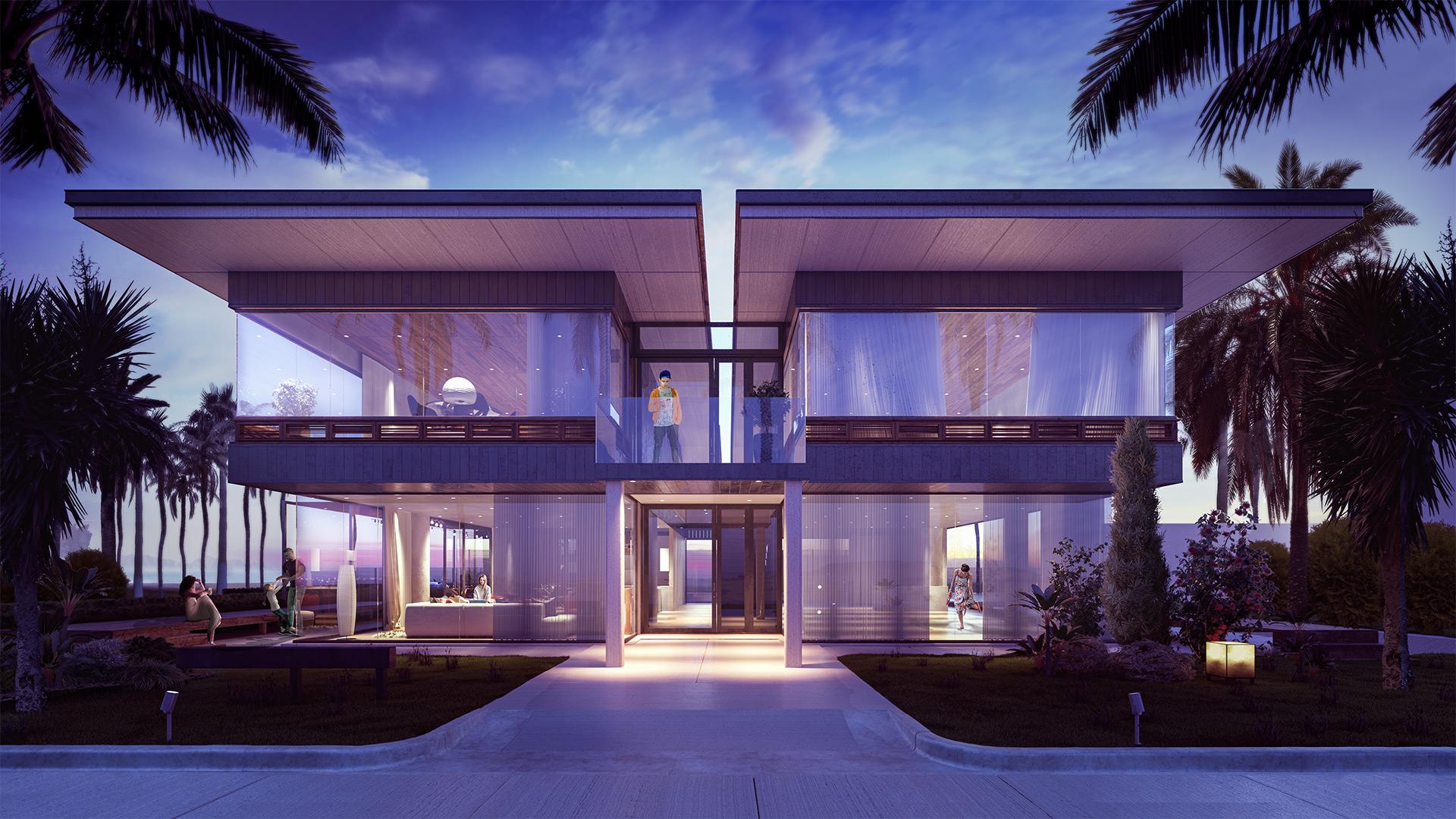 Residential Beach front property villa render