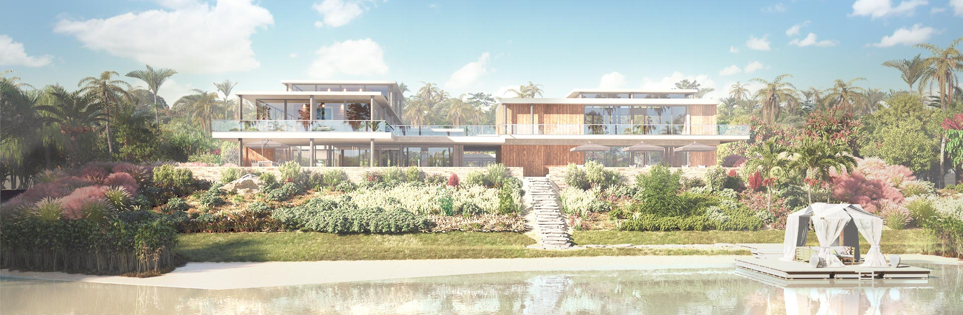 Architectural Render Beach Front Villa