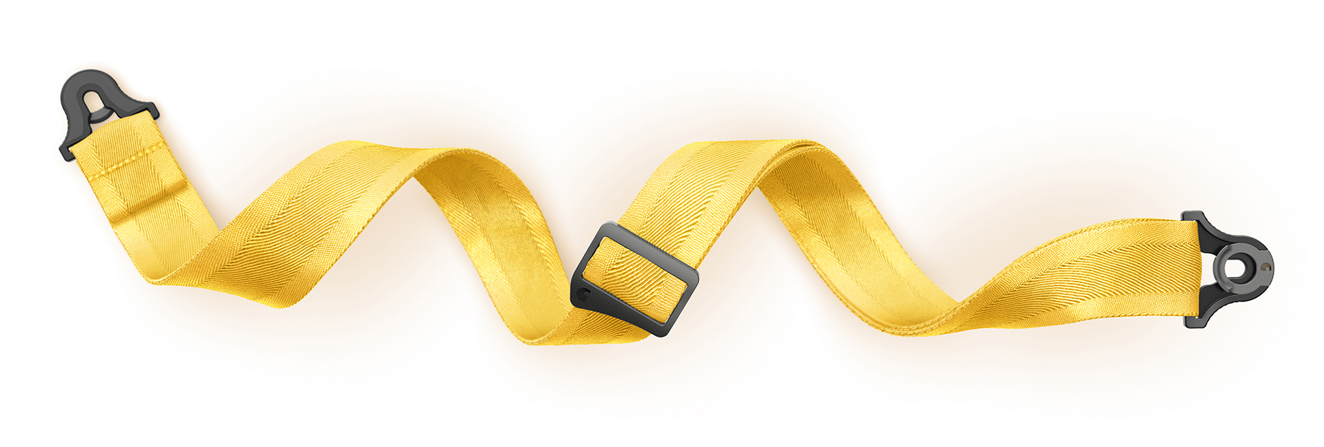 D'Addario Guitar Strap Lock Yellow Product Render